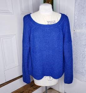 NWT Abercrombie & Fitch blue sweater.  Size L